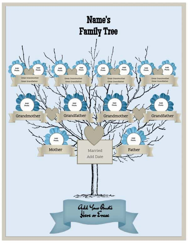 3 generation family tree