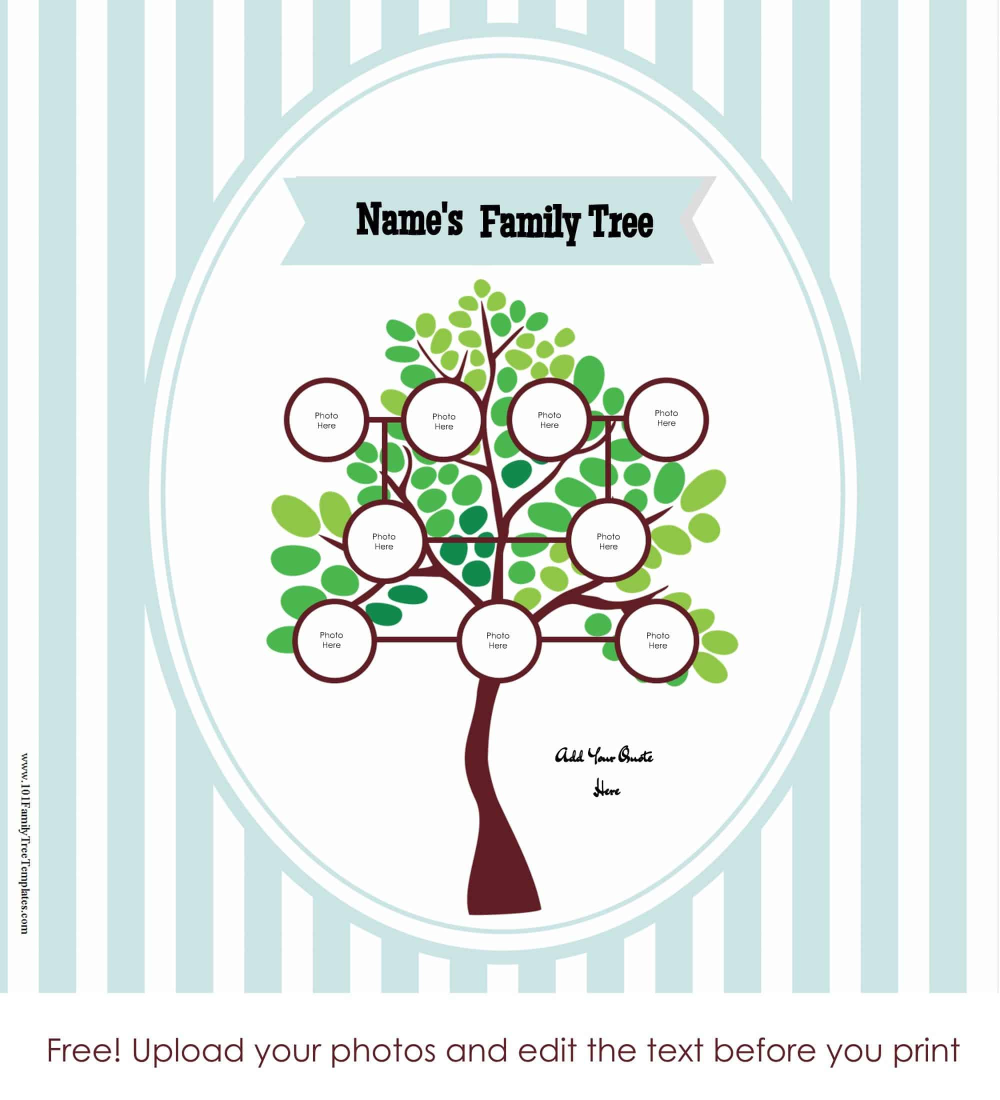 Free Family Tree Poster Customize Online Then Print At Home