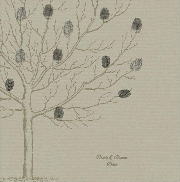 Wedding tree with fingerprints