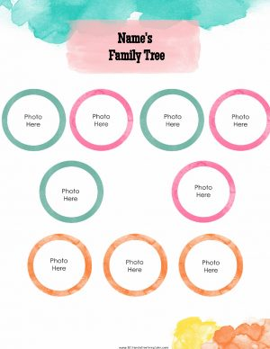 watercolor family tree template