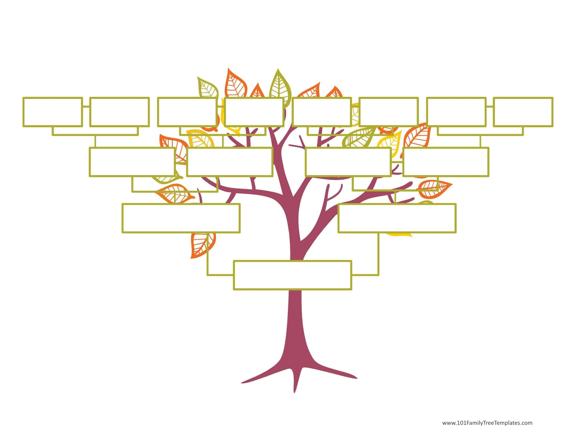 Blank Family Tree Template  Free Instant Download Intended For Fill In The Blank Family Tree Template